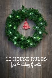 16 house rules for holiday guests mommy shorts