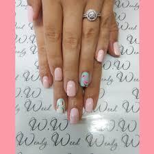 ibx natural healthy beautiful nails flamingo and palm trees