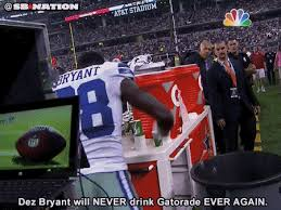 Dez Bryant Memes - dallas cowboys dez bryant destroys gatorade cups in rage gif