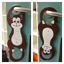 monkey door hanger four little five
