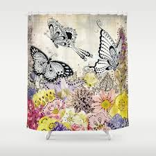 Science Shower Curtains Society6 Lenox Butterfly Meadow Shower Curtain Hooks For Monarch Butterfly