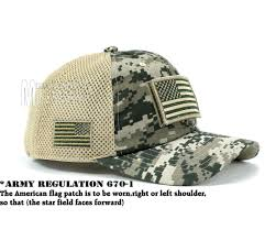 American Flag Camo Hat Usa Flag Hat Acu Digital Patch Micro Mesh Tactical Operator