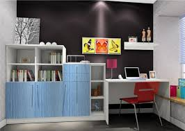 study room furniture color rendering 3d house