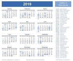 2019 calendar calendar template word