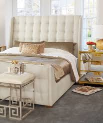 Upholstered Sleigh Bed Soho Luxe Upholstered Sleigh Bed King Bernhardt Luxe Home