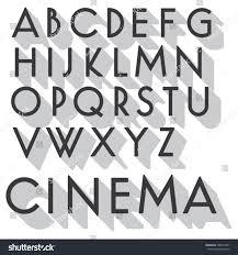 retro vector font vintage letters long stock vector 188974391