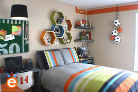themed shelves kids bedroom colorful sports football themed boys room
