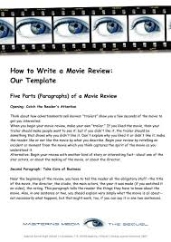 example of how to write a movie in an essay