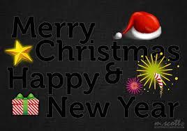 merry happy new year wallpaper in gimp