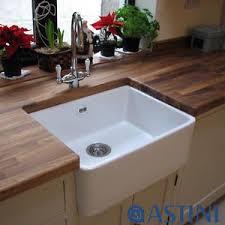 Astini Belfast   Bowl White Ceramic Kitchen Sink Waste - Belfast kitchen sinks