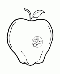 apple fruit drawing one apple fruit coloring page for kids fruits