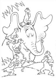 horton hears a who coloring page printable horton hears a who