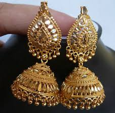 jumka earrings south indian gold plated jhumka earrings bead drop jewelry