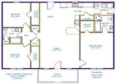 ranch house floor plans with basement 24 foot ranch house plans tinker construction company inc