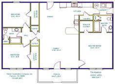 2 bedroom basement floor plans 24 foot ranch house plans tinker construction company inc