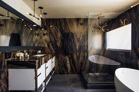 eye catching master bathroom is earthy yet glam earthy meets glam