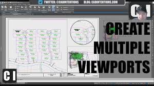 autocad tutorial how to create multiple u0026 shape viewports in a