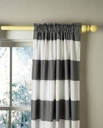 Striped Yellow Curtains One Pair Of White And Gray Damask Curtains By Ellabellafabric