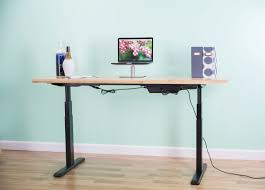 Automatic Height Adjustable Desk by Electric Stand Up Desk Frame W Dual Motor Ergonomic Standing