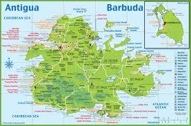 Caribbean Sea Map Antigua Map Med Pinterest Antigua Tourist Map And