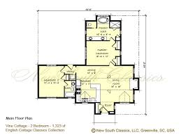 two bedroom cottage plans new south classics vine cottage new