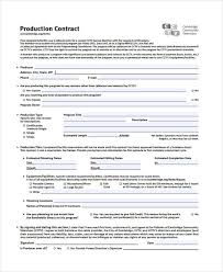 28 images of production agreement template infovia net