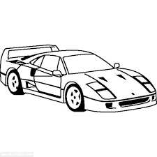 top view ferrari enzo cars colouring page colouring tube