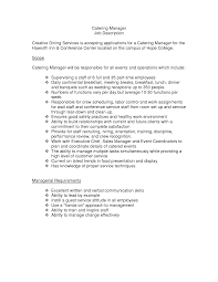 catering manager resume collection of solutions 43 creative catering sales manager resume