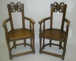 Antique French Armchairs Pair Of Antique French Gothic Style Armchairs Or Caquetoires