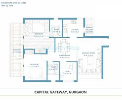 2 bhk 1445 sq ft apartment for sale in tashee capital gateway at