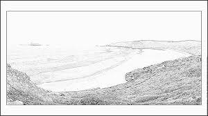 coloriage plage de camaret sur mer à imprimer pour les enfants