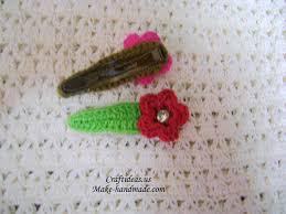 crochet flower hairclips more ideas craft ideas