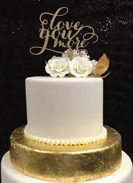 engagement cake toppers you more cake topper wedding engagement gold calligraphy