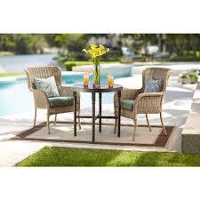 Hampton Bay Woodbury 7 Piece Patio Dining Set - amazon com lemon grove round wicker outdoor bistro table patio