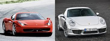 cars like porsche 911 458 italia or porsche 911 fiat s