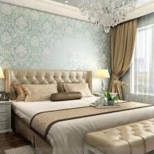 Damask Wall Decor Online Shop European Fashion Woven Wallpaper Roll Flocking Glitter