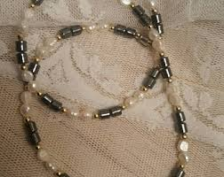 pearls necklace real images Vintage real pearl necklace etsy jpg