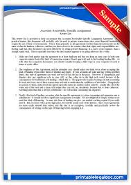 Assignment Form Free Printable Accounts Receivable Specific Assignment Form Generic