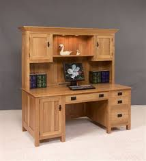 Amish Computer Armoire Amish Large Mission Computer Desk With Hutch Top This Beautiful