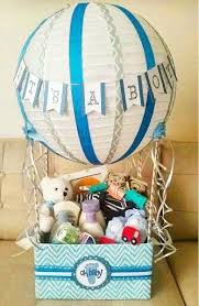 baby shower baskets hot air balloon baby shower gift basket my diy