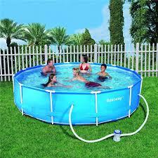 10ft 12ft steel frame family childrens outdoor garden swimming