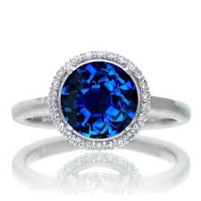 sapphire halo engagement rings 1 25 carat cut classic halo sapphire and engagement