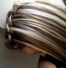 platinum blonde hair with brown highlights bleach blonde highlights on dark brown hair brown hairs