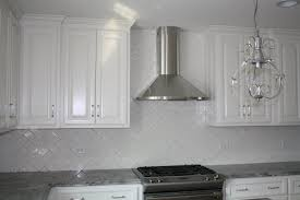 decorating attractive oak kitchen cabinets with grey backsplash