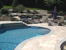 pool stamped concrete patio home design planning unique in pool