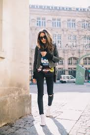 leather biker style boots street style march 2015 just the design