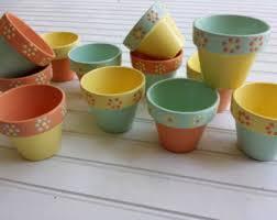 Flower Pot Wedding Favors - painted flower pots christmas party favors small favor