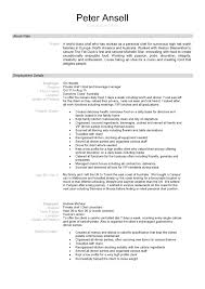 Chef Resume Samples Free by Chef Resume Resume Cv Cover Letter