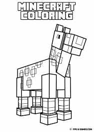 minecraft llama coloring pages coloring