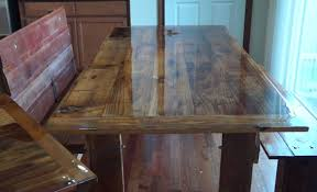 how to build a barn wood dining table and bench youtube